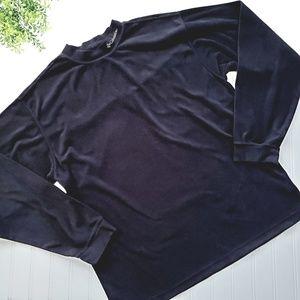 Columbia Mock Neck Fleece Long Sleeve Shirt Large